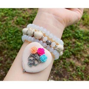 Jewelry - 💀💀sugar skull set of 3 bracelets💀💀